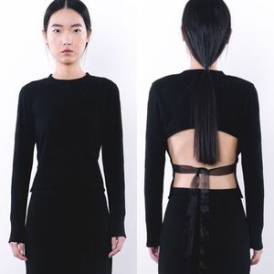 Sweaters - Brand new black sweater/long sleeve with open back